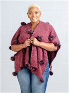 Fashion Apparel Poncho FP60453