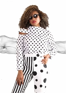 For Her Polka Dot Top 81534