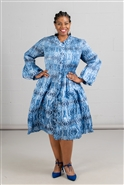 Jerry T Print Dress SR7206