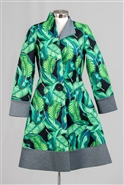 Jerry T SR7210 Long Sleeve Graphic Print One-button Scuba Dress/Jacket