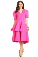 Karen T Ruffle Tier Dress 8018