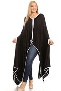 Karen T Long Poncho Top 9006NF