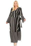 Karen T Print Wrap Dress 9053D