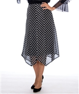 Raquel Stripe Skirt 2113