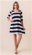 Vision Colorblock Dress D705