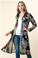 Vision Long Print Duster T5052