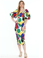 Why Multi Color Dress D200101