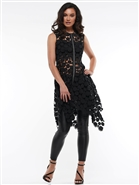 Why Lace Zip Up Dress J190437