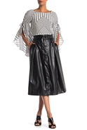 Why Faux Leather Skirt S180166