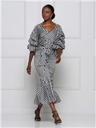Why Stripe Ruffle Skirt S180982