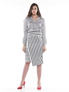 Why Stripe Skirt S190033