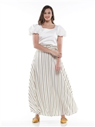 Why Stripe Skirt S190065