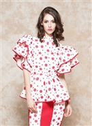 Why Polka Dot Scuba Top T181612