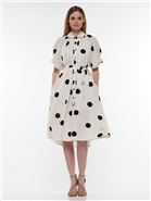 Why Polka Dot Shirt Dress T190769