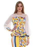 Why Floral Peplum Top T200384