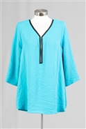 Yushi Moda V Neck Blouse 1825