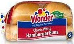 WONDER HAMBURGER BUNS (8)