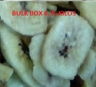 BANANA CHIPS (SWEETENED) BULK BOX 6.35 KILOS