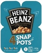 HEINZ BAKED BEANS BRITISH MICROWAVE SNAP POTS (24)