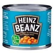 HEINZ BRITISH BAKED BEANS MINI CANS (48)