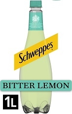 SCHWEPPES BITTER LEMON DRINK IMPORTED 6 x 1 LITRE BOTTLES