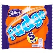 CADBURY FUDGE BARS 5PK(20)