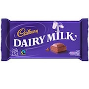 CADBURY DAIRY MILK CHOCOLATE BAR 110g (21)