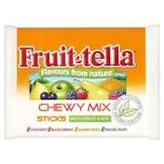 FRUIT-TELLA CHEWY CANDY STICKS 20 PACKS BOX