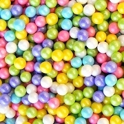 CANDY BEADS (PLAIN AND SHIMMER) 6(2LB) BAGS