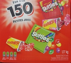 STARBURST & SKITTLES  ASSORTED FUN TREATS 150 PCS