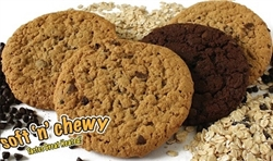 "SHIRES SOFT ""N"" CHEWY 12 SINGLE SERVE 2 PACK COOKIES (4 BOXES)"