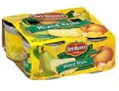 DEL MONTE FRUIT SINGLE PORTION CANS (6)