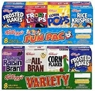 KELLOGGS SINGLE SERVE CEREAL BOXES