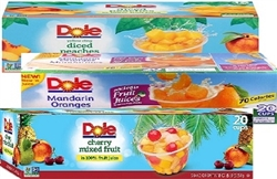 DOLE FRUIT SINGLE PORTION 20 CUPS (PLASTIC)