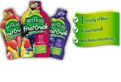 ARTHURS SQUEEZABLE 100% FRUIT SACHETS 10 / CASE