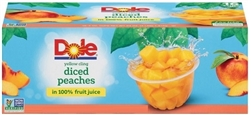 DOLE DICED PEACHES PORTION CUPS (PLASTIC) 20