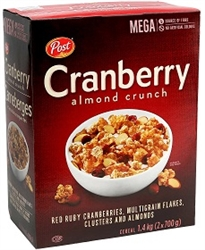 POST CRANBERRY ALMOND CRUNCH 1.4 K JUMBO BOX