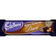 CADBURY BURNT ALMOND DARK CHOCOLATE BARS 42g(24)