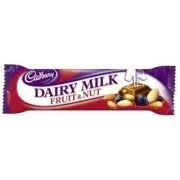 CADBURY FRUIT & NUT, MILK OR DARK CHOCOLATE 42g(24)