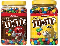 M & M's PEANUTS OR CHOCOLATE 1.75K JUG