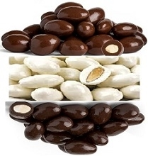 CHOCOLATE COVERED ALMONDS 11.34 KG BOX