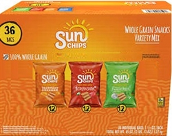 SUN CHIPS VARIETY PACK 3 FLAVOURS (36)