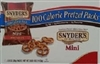 SNYDERS MINI PRETZELS 100 CALORIES PER PACK (36)