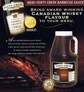 FORTY CREEK WHISKEY BBQ SAUCE 2 x 4L JUGS