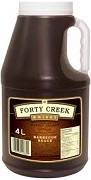 FORTY CREEK WHISKEY BBQ SAUCE SINGLE 4L JUG