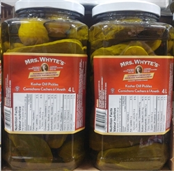 MRS WHYTES KOSHER DILL PICKLES 4L (2 JARS)