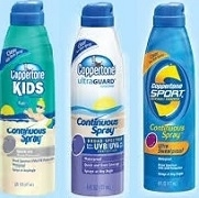 COPPERTONE SPRAYS, SPORT 30, ULTRA 50, KIDS 50.