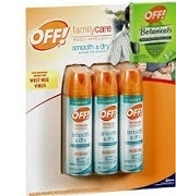 OFF INSECT REPELLENT FAMILY CARE 3 PACK