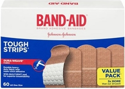 BAND AID TOUGH STRIPS DURABLE 60 / BOX