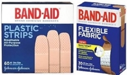 BAND AID PLASTIC (60) OR FLEXIBLE (30)